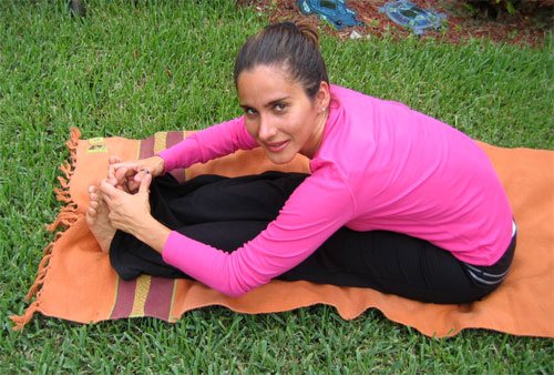 Bend Forward Yoga Pose Monica Hornung Yoga Instructor Boynton Beach