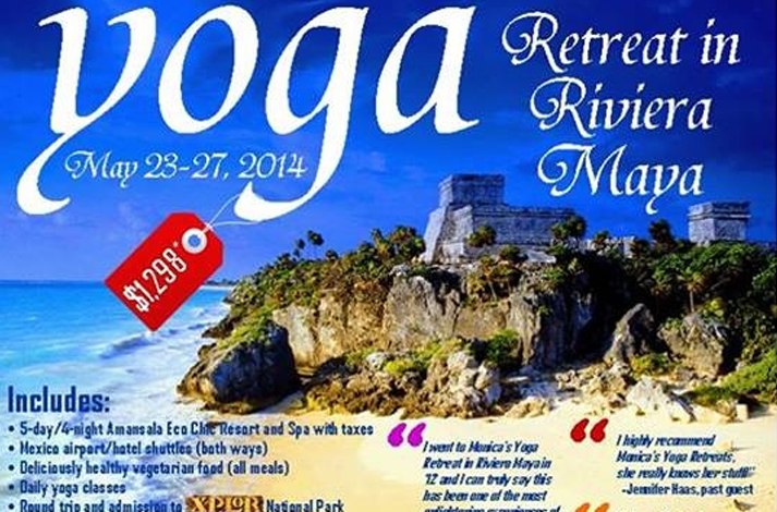 Tulum Yoga Retreat in Mexico - Riviera Maya - May 23-27, 2014 Monica Hornung Yoga Instructor Boynton Beach FL