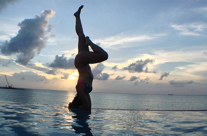 Yoga Bimini Island Bahamas Yoga Mundo Monica Hornung Sirsasana Headstand